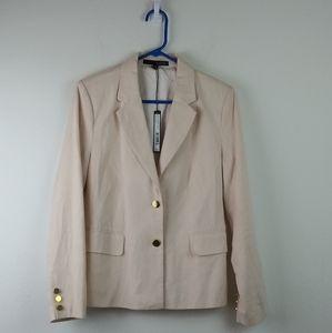 Jackets & Blazers - Harve Bernard Linen Blend NWT Blazer blush Pink(8)